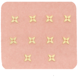 Japanese 3D Nail Charms - Gold Flower - 10 Stickers (520473)