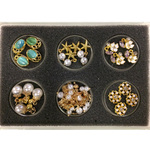 3D Nail Jewelry for Nail Art Designs - Gold #1 24 Pieces (520476)
