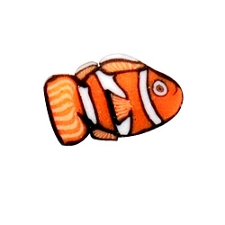 Fimo Polymer Clay Cane Nail Art DC - Orange Fish (520970)