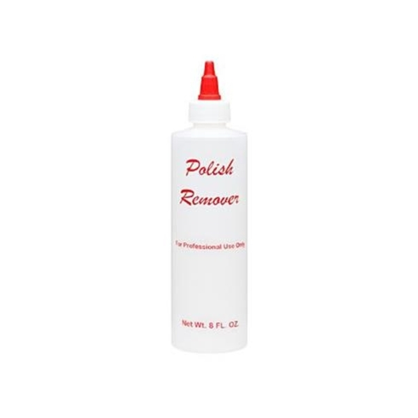 Labeled Empty Plastic Bottle 8 oz Polish Remover (610005)