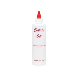 Labeled Empty Plastic Bottle 8 oz Cuticle Oil (610009)