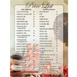 Price List - Designed for Nail Salon Use - Each (610037)