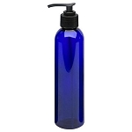 Cobalt Plastic Bottle - Lotion Punp 8 oz (610109)