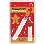 Crystal Nail File - Christmas Gingerbread Man Design - Each (980673)