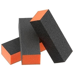 3 Way UK Nail Buffing Block - Orange (BUO)