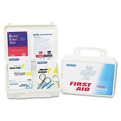 First Aid Kits for 25 People 131 Pieces Plastic Case (ACM60002)