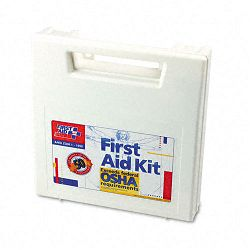 First Aid Kit for 50 People 195 Pieces OSHAANSI Compliant Plastic Case (FAO225AN)