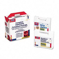 First Aid Kit for 50 People 229 Pieces ANSIOSHA Compliant Plastic Case (FAO228CP)