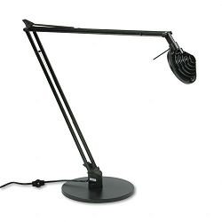 Concentrolite Halogen Desk Lamp Tiered Shade Weighted Base 34 Inch Reach (LEDL460BK)