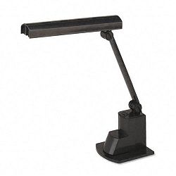 Fluorescent Desk Lamp Electronic Ballast Folding Shade 15-12 Inches Black (LEDL9014)