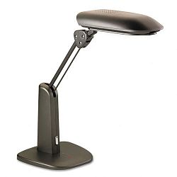 "Low-Glare Compact Fluorescent Polarizing Task Lamp Weighted Base 21"" Black (MMMTL1000C)"