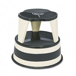 Original Kik-Step Steel Step Stool 15-58 dia. x 14h 500lb Duty Rating Beige (CRA100119)