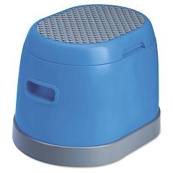 task it Scooter Pod Plastic Step Stool wStorage Space 300lb Duty Rating Blue (CRA501163)