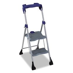 Two-Step Steel Work Platform 225lb Duty Rating Platinum GrayBlue (CSC11380PBL1)