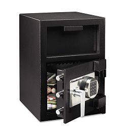 Depository Safe 1.3 ft3 14w x 15-35d x 24h Black (SENDH109E)