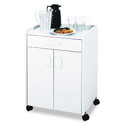 Mobile Refreshment Center Cart 1-Shelf 23w x 18d x 31h Gray (SAF8953GR)