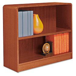 Radius Corner Wood Veneer Bookcase 2-Shelf 35-38 x 11-34 x 30 Medium Cherry (ALEBCR23036MC)