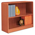 Radius Corner Wood Veneer Bookcase 2-Shelf 35-38w x 11-34d x 30h Medium Oak (ALEBCR23036MO)