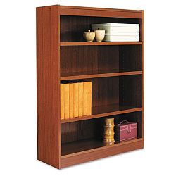Square Corner Wood Veneer Bookcase 4-Shelf 35-38 x 11-34 x 48 Medium Cherry (ALEBCS44836MC)