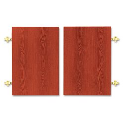 Optional Doors 18701890 Series Laminate Bookcases 36w x 25-34h Henna Cherry (HON1801J)