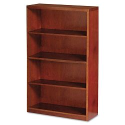 Mira Series Wood Veneer 4-Shelf Bookcase 34¾w x 12d x 68h Medium Cherry (MLNMBC3668MC)