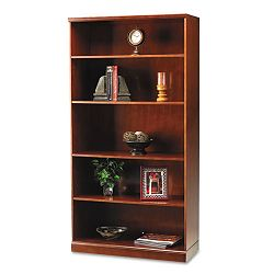 Sorrento Series Veneer 5-Shelf Bookcase 36w x 18d 70h Bourbon Cherry (MLNSB5SCR)