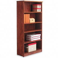 Valencia Series Bookcase 5 Shelves 31-34w x 12-12d x 65h Medium Cherry (ALEVA636632MC)
