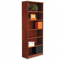 Valencia Series Bookcase 6 Shelves 31-34w x 12-12d x 80-38h Medium Cherry (ALEVA638232MC)