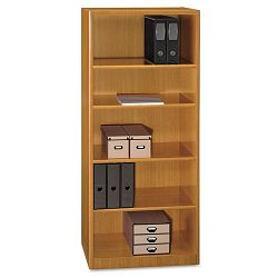 Quantum Series Bookcase 5 Shelves 29-14w x 14-58d x 67h Modern Cherry (BSHQT3605MC)