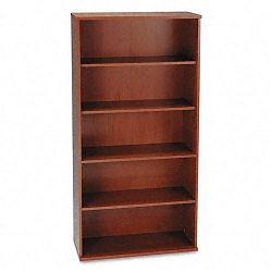 Series C Open Double Bookcase 5-Shelf 35-58 x 15-38 x 72-78 Hansen Cherry (BSHWC24414)