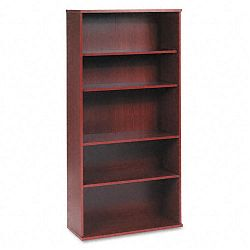 Series C Open Double Bookcase 5-Shelf 35-58w x 15-38d x 72-78h Mahogany (BSHWC36714)