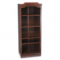 Governor's Series Open Bookcase Laminate 5 Shelves 30w x 14d x 74h Mahogany (DMI735008)