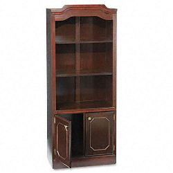 Governor's Series Bookcase With Doors 3 Shelves 30w x 14d x 74h Mahogany (DMI735009)