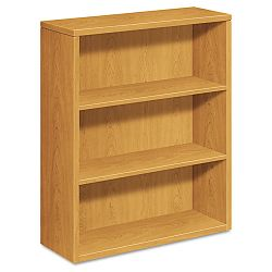 10500 Series Bookcase 3 Shelves 36w x 13-18d x 43-38h Harvest (HON105533CC)