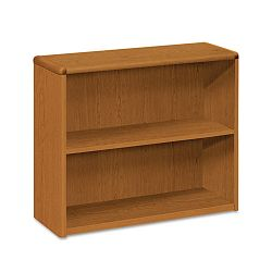 10700 Series Bookcase 2 Shelves 36w x 13-18d x 29-58h Bourbon Cherry (HON10752HH)