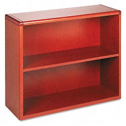 10700 Series Bookcase 2 Shelves 36w x 13-18d x 29-58h Henna Cherry (HON10752J)