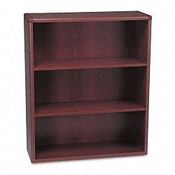 10700 Series Bookcase 3 Shelves 36w x 13-18d x 43-38h Mahogany (HON10753N)