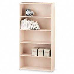 10700 Series Bookcase 5 Shelves 36w x 13-18d x 71h Natural Maple (HON10755DD)