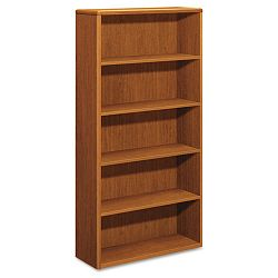 10700 Series Bookcase 5 Shelves 36w x 13-18d x 71h Bourbon Cherry (HON10755HH)