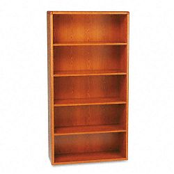 10700 Series Bookcase 5 Shelves 36w x 13-18d x 71h Henna Cherry (HON10755J)