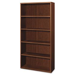 Attune Series Bookcase 5 Shelves 36w x 13-18d x 71h Shaker Cherry (HON11855FF)