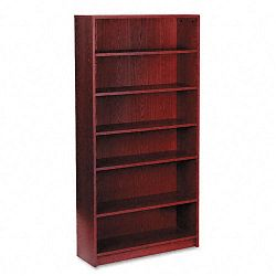 1870 Series Bookcase 6 Shelves 36w x 11-12d x 72-58h Mahogany (HON1876N)