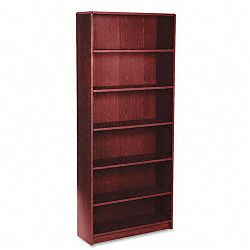 1870 Series Bookcase 6 Shelves 36w x 11-12d x 84h Mahogany (HON1877N)