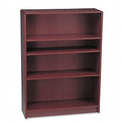1890 Series Bookcase 4 Shelves 36w x 11-12d x 48-34h Mahogany (HON1894N)