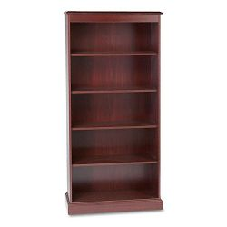 94000 Series Five-Shelf Bookcase 35-34w x 14-516d x 78-14h Mahogany (HON94225N)