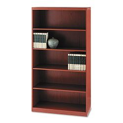 Aberdeen Series Laminate 5-Shelf Bookcase 36w x 15d x 68¾h Cherry (MLNAB5S36LCR)