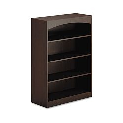 Brighton Series Laminate 4-Shelf Bookcase 36w x 15d x 50½h Mocha (MLNBTB4S36LDC)