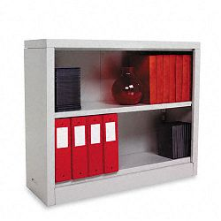 Steel Bookcase 2 Shelves 34-12w x 13d x 30h Light Gray (ALESB623034LG)