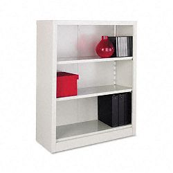 Steel Bookcase 3 Shelves 34-12w x 13d x 42h Light Gray (ALESB624234LG)