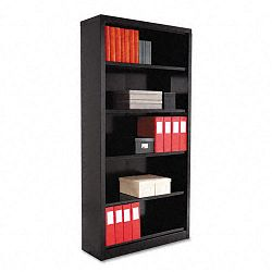 Steel Bookcase 5 Shelves 34-12w x 13d x 72h Black (ALESB627234BL)